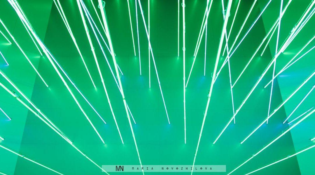 Neon Lights of Lucio Fontana in Milan